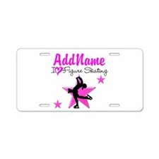 LIVE TO SKATE Aluminum License Plate