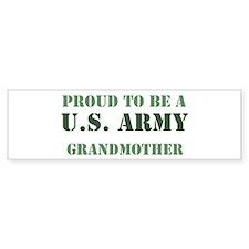 Proud Army Grandmother Bumper Bumper Sticker