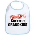 World's Greatest Grandkids Bib