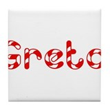 Greta - Candy Cane Tile Coaster