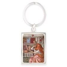 Augustine of Hippo by Botticelli Portrait Keychain