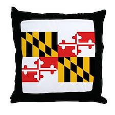 Maryland Flag Throw Pillow