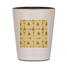 cute back to school pattern Shot Glass
