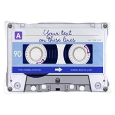 Cassette Tape - Blue Pillow Case