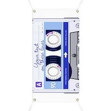Cassette Tape - Blue Banner