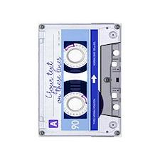 Cassette Tape - Blue 5'x7'Area Rug