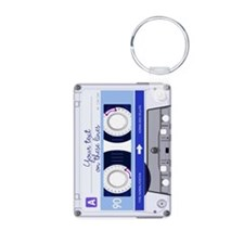 Customizable Cassette Tape Aluminum Photo Keychain