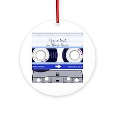 Cassette Tape - Blue Ornament (Round)