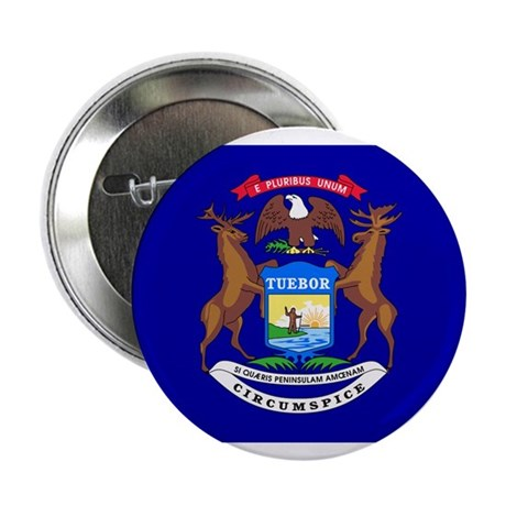 Michigan Flag 2.25&amp;quot; Button (100 pack)
