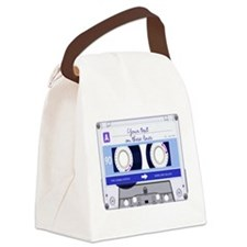 Cassette Tape - Blue Canvas Lunch Bag