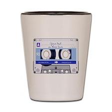 Cassette Tape - Blue Shot Glass