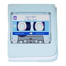 Cassette Tape - Blue baby blanket