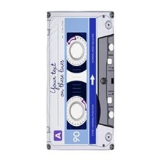 Customizable Cassette Tape - blue Beach Towel