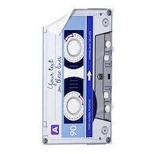 Customizable Cassette Tape - blue Beach Towel