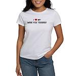I Love: Wire Fox Terrier Women's T-Shirt
