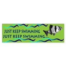 Just keep swimming bumpersticker Bumper Bumper Sticker
