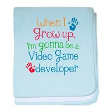 Future Video game developer baby blanket