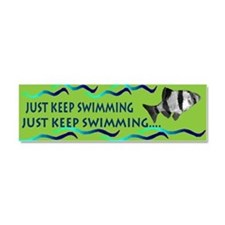 Just keep swimming bumpersticker Car Magnet 10 x 3