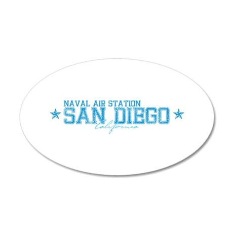 NASsandeigo.png 20x12 Oval Wall Decal