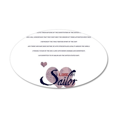 spousecreed.png 20x12 Oval Wall Decal