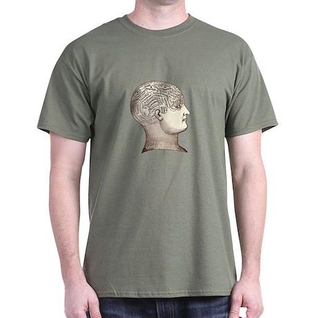 Victorian Phrenology Dark T-Shirt