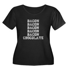 Bacon and Chocolate Plus Size T-Shirt