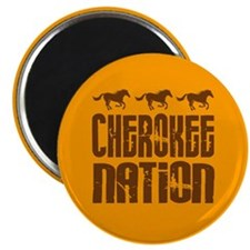 "Cherokee Nation With Running Horses 2.25"" Magnet ("