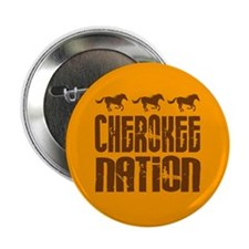 "Cherokee Nation With Running Horses 2.25"" Button ("