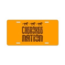 Cherokee Nation With Running Horses Aluminum Licen