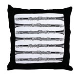 Clarinet Woodcut Throw Pillow