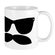 Sunglasses Mustache Small Small Mugs
