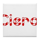 Ciera - Candy Cane Tile Coaster