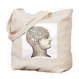 Victorian Phrenology Tote Bag