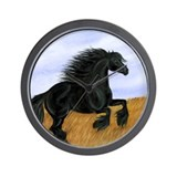 Friesian Horse Wall Clock