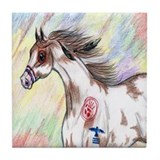 Cherokee Indian pony Paint horse Tile Coaster