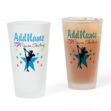 ICE SKATING STAR Drinking Glass