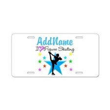 ICE SKATING STAR Aluminum License Plate