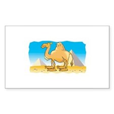 Camel and Pyramids Rectangle Stickers