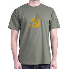 USSR (Russia) Hammer & Sickle T-Shirt (Green)