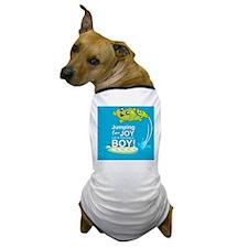 Jumping for joy we're having a boy Dog T-Shirt