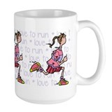 Love to run (woman) Mug