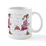 Love to run (woman) Mug