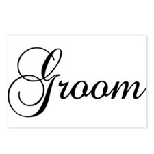 Groom Dark Postcards (Package of 8)