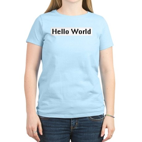 Hello World Women's Pink T-Shirt