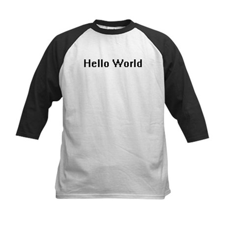 Hello World Kids Baseball Jersey