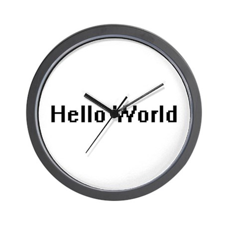 Hello World Wall Clock
