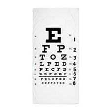 eyechart_full_page Beach Towel