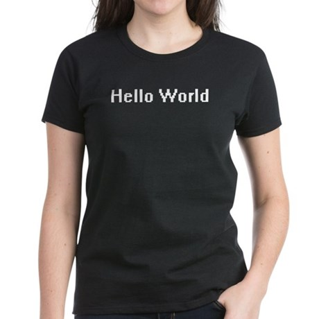 Hello World Women's Dark T-Shirt
