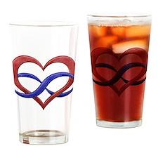 Polyamory Heart Drinking Glass