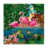 Flamingo Paradise Tile Coaster